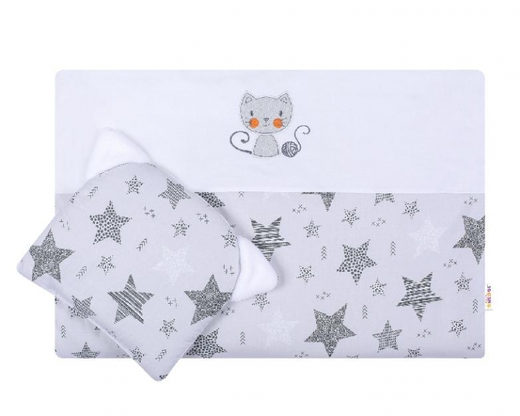 Detská sada do kočíka Baby Nellys ® STARMIX, bielo-šedá