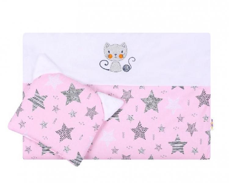 Detská sada do kočíka Baby Nellys ® STARMIX, růžovo-biela