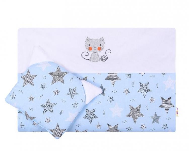 Detská sada do kočíka Baby Nellys ® STARMIX, modro-biela
