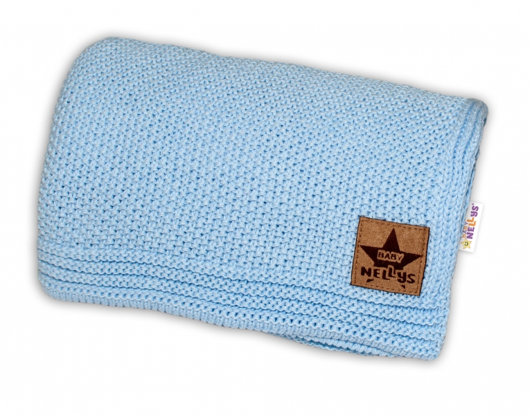 Baby Nellys Luxusná deka do kočíka, 80x90cm - modrá