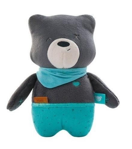 Szumisie Šumiaci maznáčik Medvedík Matt s aplikacjou, 24 cm - sivý / mätová