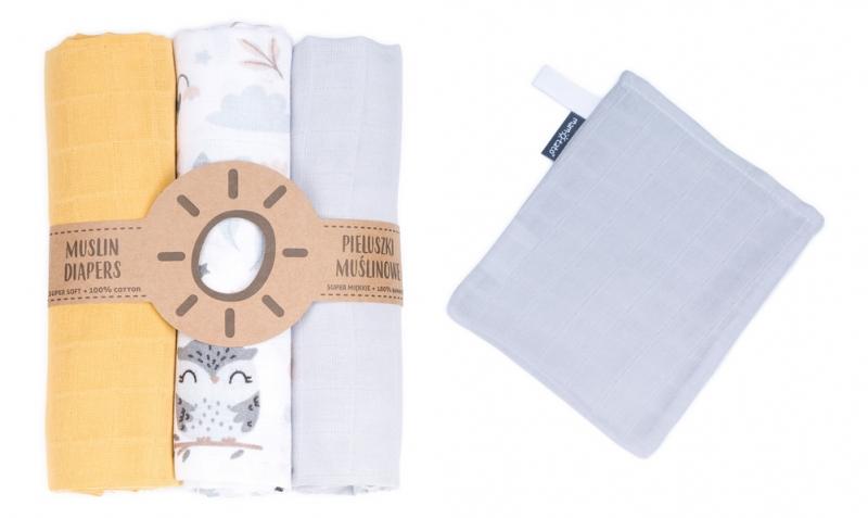 Mamo-Tato mušelínové plienky 3ks + žinka zadarmo -  vzor 5