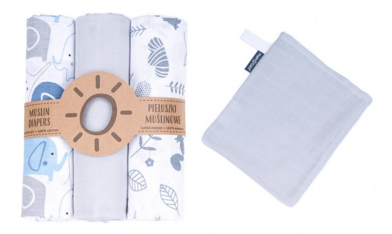 Mamo-Tato mušelínové plienky 3ks + žinka zadarmo -  vzor 9