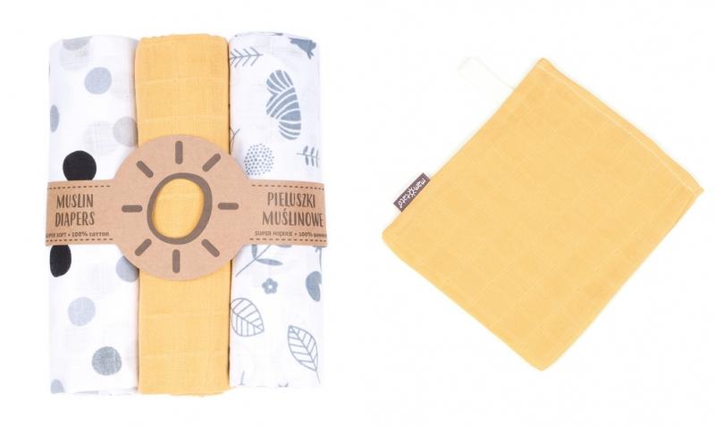 Mamo-Tato mušelínové plienky 3ks + žinka zadarmo -  vzor 18