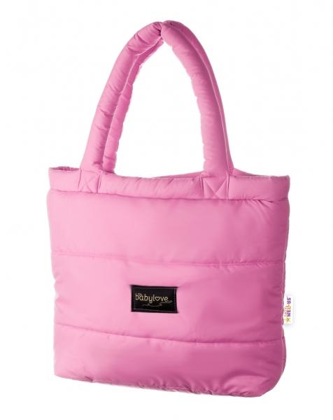 Baby Nellys taška na kočík STYLE, svetlo ružová