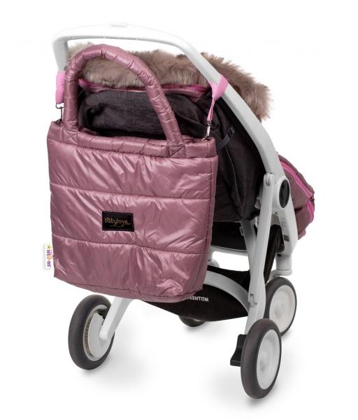 Baby Nellys taška na kočík STYLE, pudrově ružová