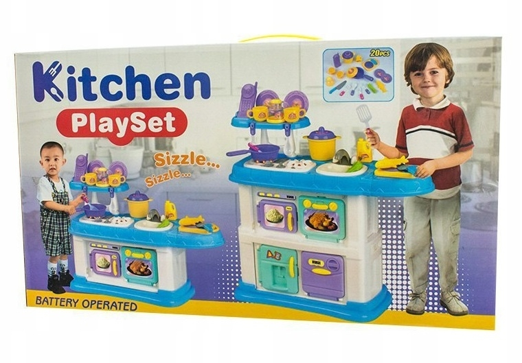 Euro Baby Detská kuchynka s príslušenstvom, Rozmery: 68 x 68 cm, věk: 3 +