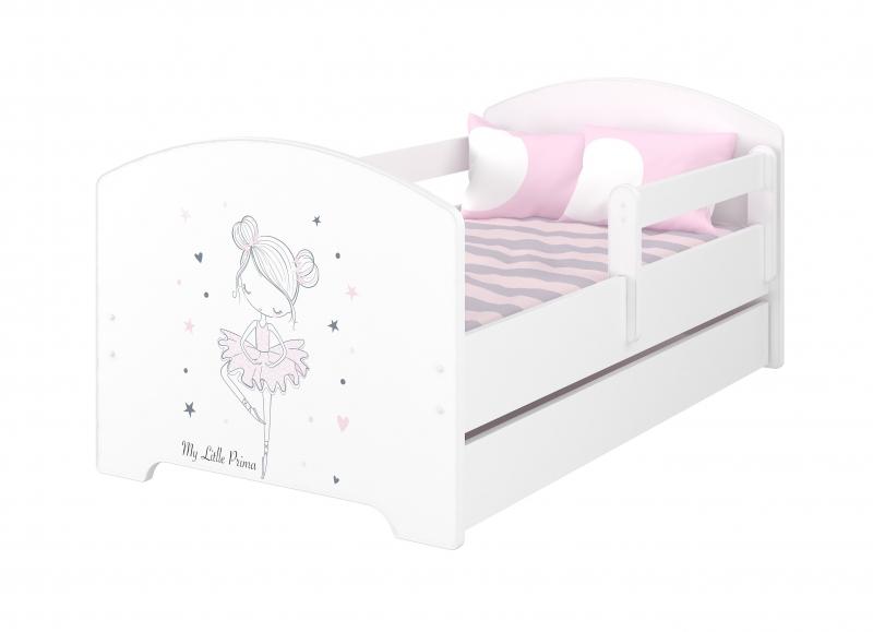 Babyboo Detská posteľ - Baletka + matrac, 160x80 cm
