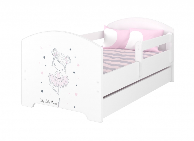 Babyboo Detská posteľ 160 x 80 cm - Baletka  + matrac a šuplík