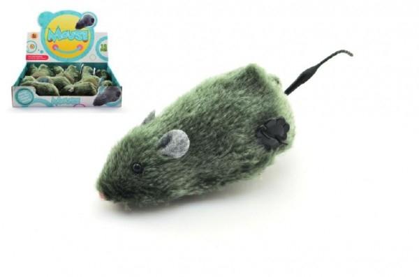 Myš na kľúčik plast / plyš 12cm 12ks v boxe - 1ks