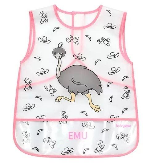 BabyOno Detská zásterka ACTIVE BABY - Emu