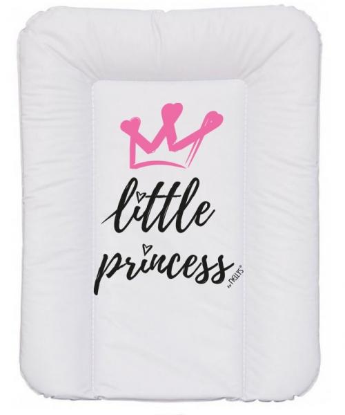 NELLYS Prebaľovacia podložka, mäkká, Little Princess, 70 x 50cm, biela