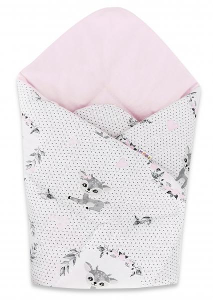 Bavlnená novorodenecká zavinovačka Baby Nellys, Koloušek bodky, rúžová