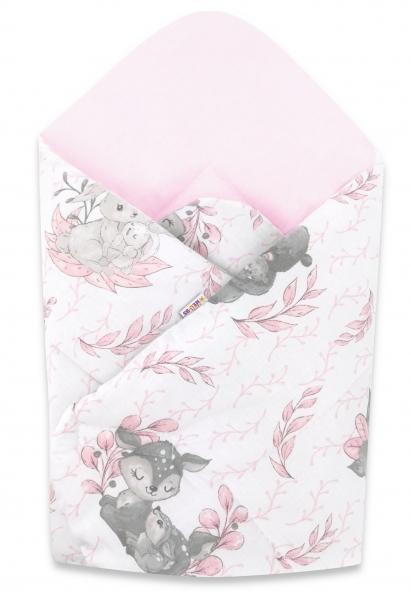 Bavlnená novorodenecká zavinovačka Baby Nellys, LULU rúžová