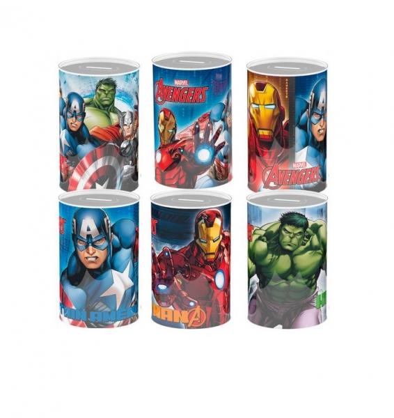Rappa Pokladnička plechová Marvel Avengers 6 druhů