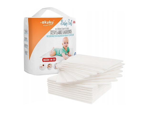 Jednorazové hygienické podložky Akuku Baby Soft - 15ks