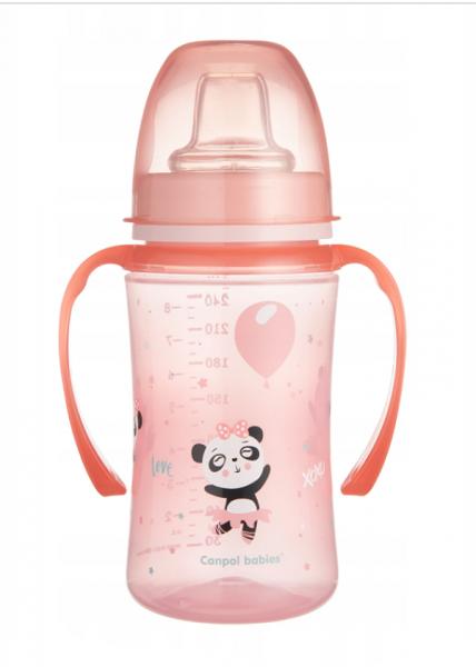 Canpol babies Nevylévací hrnček 240 ml, EasyStart - Panda- modrý