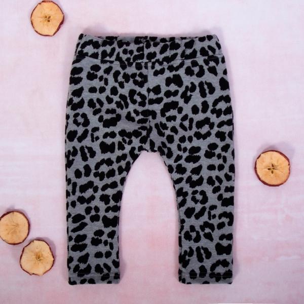 K-Baby Dievčenské legíny Gepardík, šedo-čierna