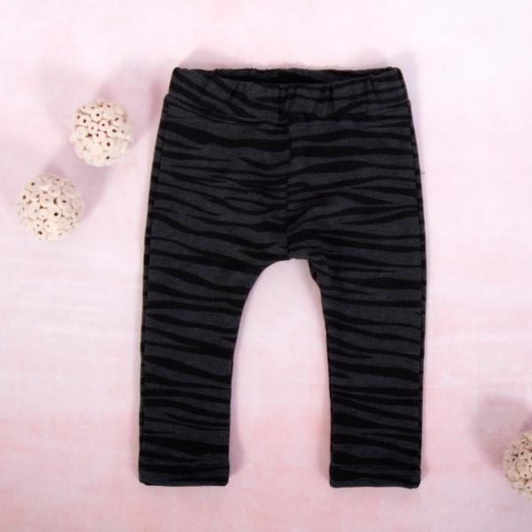 K-Baby Dievčenské legíny Tigrík, grafit-čierna, veľ. 68