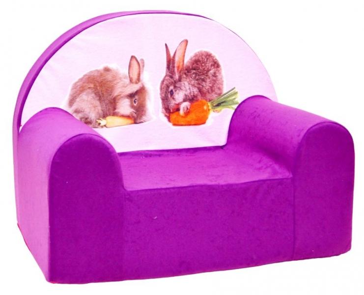 Detské kresielko Nellys - králici fialové