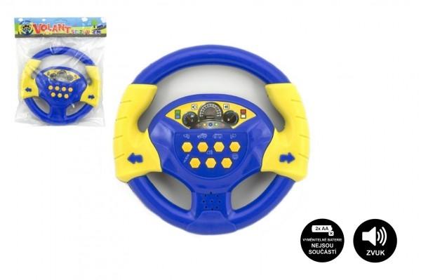Volant modrý plast 20cm na batérie so zvukom v sáčku český dizajn