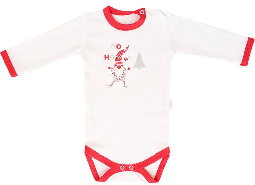 Mamatti Detské body Christmas Ho, ho, ho - biela, veľ. 98-#Velikost koj. oblečení;98 (24-36m)