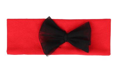 Mamatti Detská čelenka s mašľou - červená