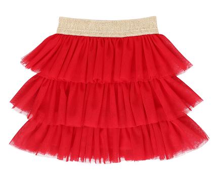 Mamatti Dojčenská tylová sukňa - červená