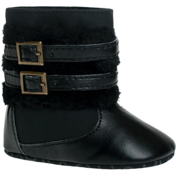 Zimný Topánočky BOBO BABY so sponou - čierne