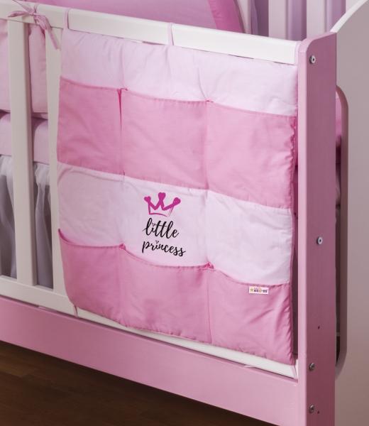 Baby Nellys Vreckár Little Princess - ružová