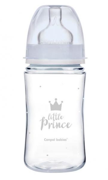 Antikoliková fľaštička 240ml Canpol Babies - Little Prince
