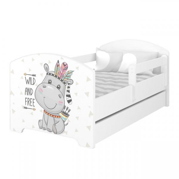 Babyboo Detská posteľ 140 x 70 cm - Hippo
