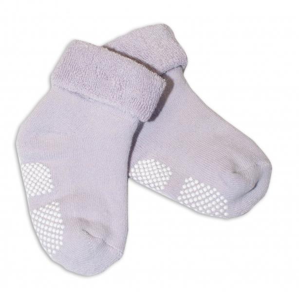 Dojčenské ponožky 12-18 m, Risocks protišmykové - lila