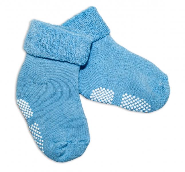 Dojčenské ponožky 12-18 m, Risocks protišmykové - sv. modré