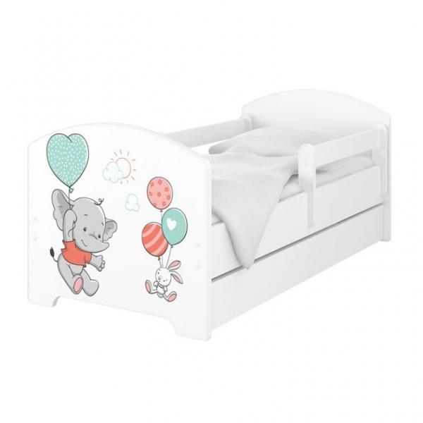 Babyboo Detská posteľ 140 x 70 cm - Slon