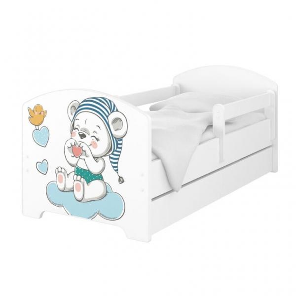 Babyboo Detská posteľ - Macko s čiapkou, 140x70 cm