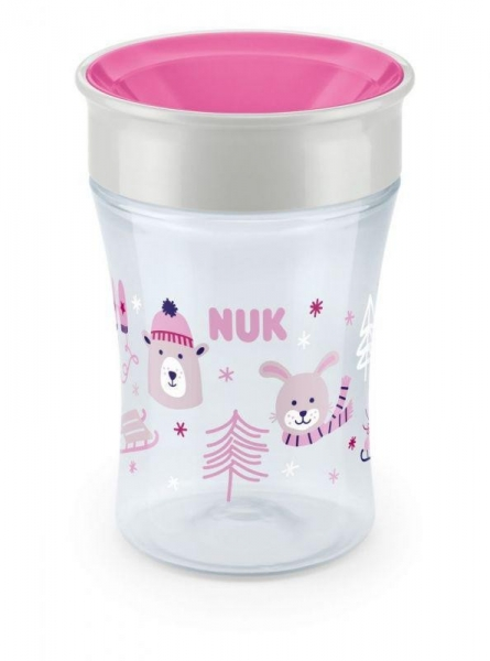 Hrnček NUK Magic Cup 230 ml - Winter, růžová