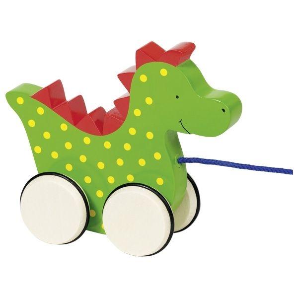 GOKI Edukačná drevená hračka 15 cm ťahacie - Dráčik