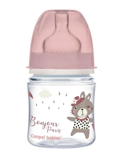 Antikoliková fľaštička Canpol Babies Easy Štart - Bonjour, 120 ml