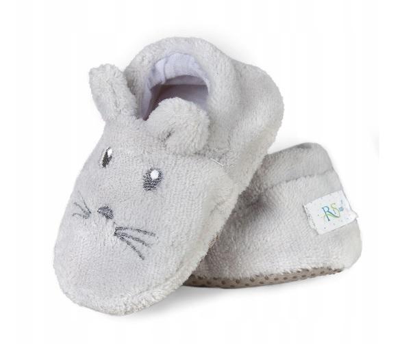 Topánočky / capáčky RISOCKS Myšička - sivá
