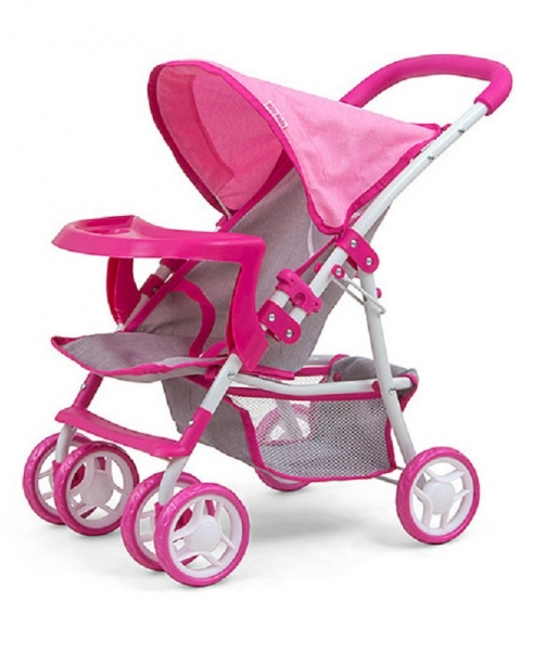 Milly Mally Športový kočík pre bábiky - Kate Prestige - ružový