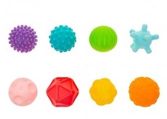 Akuku Edukačné farebné loptičky 8ks v krabičke