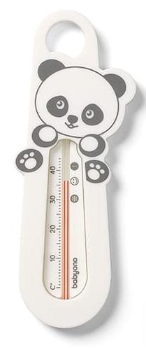 BabyOno Teplomer do vody Panda - biely