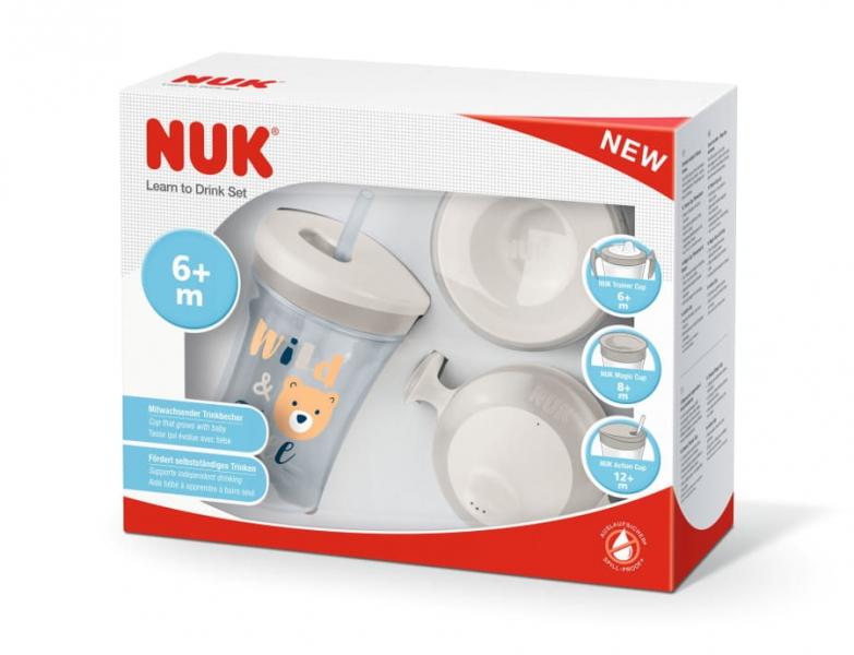 NUK Sada Evolution 3v1 v darčekovej krabičke, 230 ml
