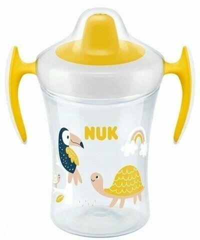 Nekvapkajúci hrnček NUK Evolution Trainer Želvička 230 ml, žltý