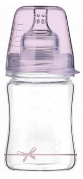 LOVI Sklenená fľaštička 150 ml Diamond Glass - mašlička