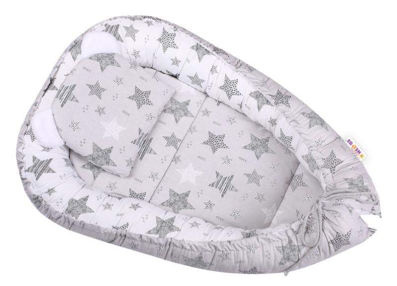Baby Nellys Sada komplet, obojstranné hniezdočko 50 x 80 cm, STARMIX, šedá