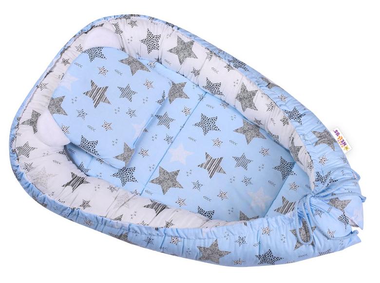 Baby Nellys Sada komplet, obojstranné hniezdočko 50 x 80 cm, STARMIX, modrá