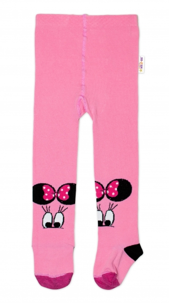 Baby Nellys Detské pančuchy bavlnené Minnie - ružová, veľ. 92/98-#Velikost koj. oblečení;92/98