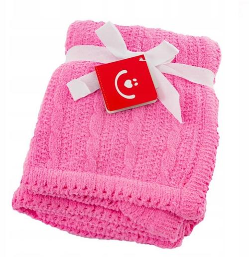 BOBOBABY Detská deka do kočíka, 75x92cm - ružová